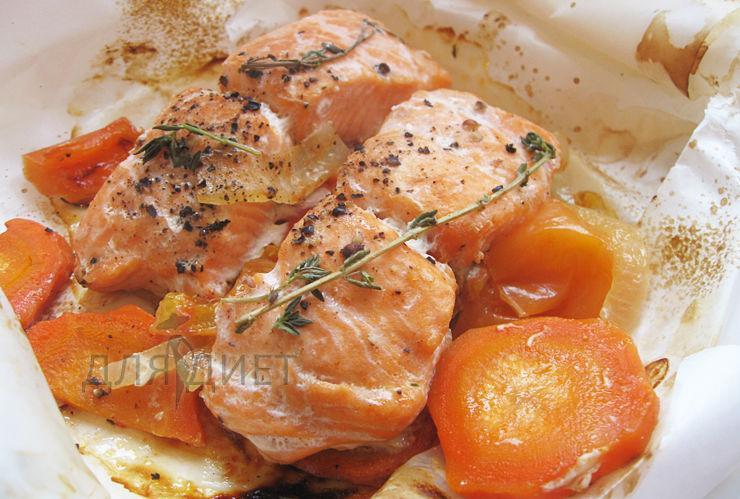 Праздничное рыбное блюдо рецепт с фото