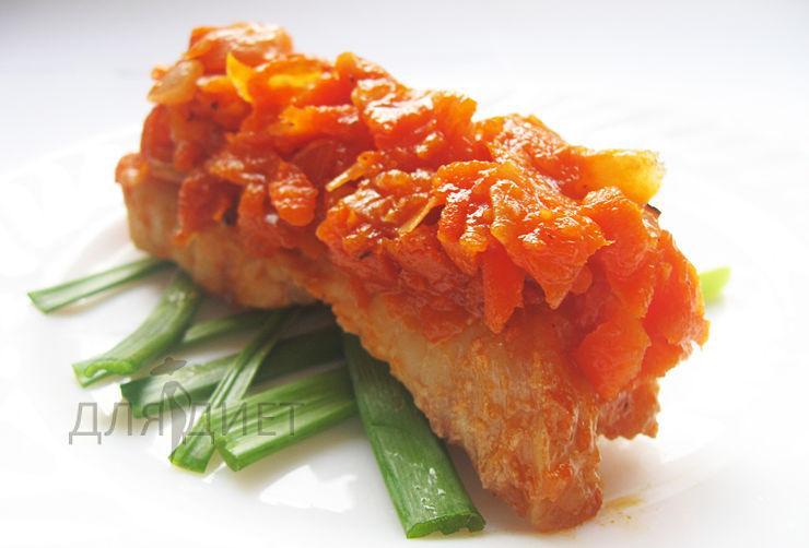 Минтай под маринадом из моркови и лука, почти классический рецепт
