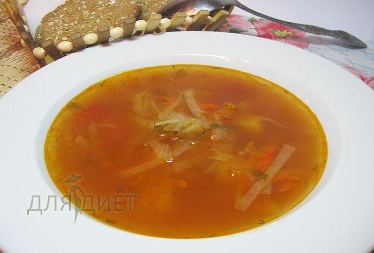 Рецепт постных щей из свежей капусты