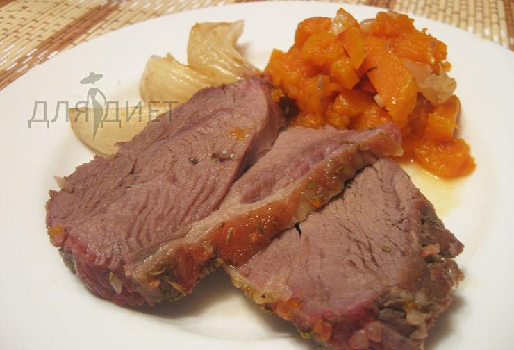 Рецепт приготовления баранины в духовке с тыквой