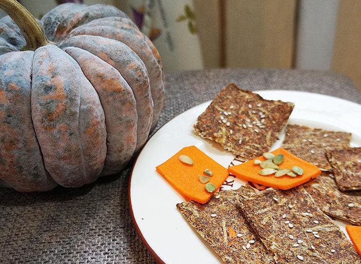 Сыроедческий хлеб морковно-тыквенный