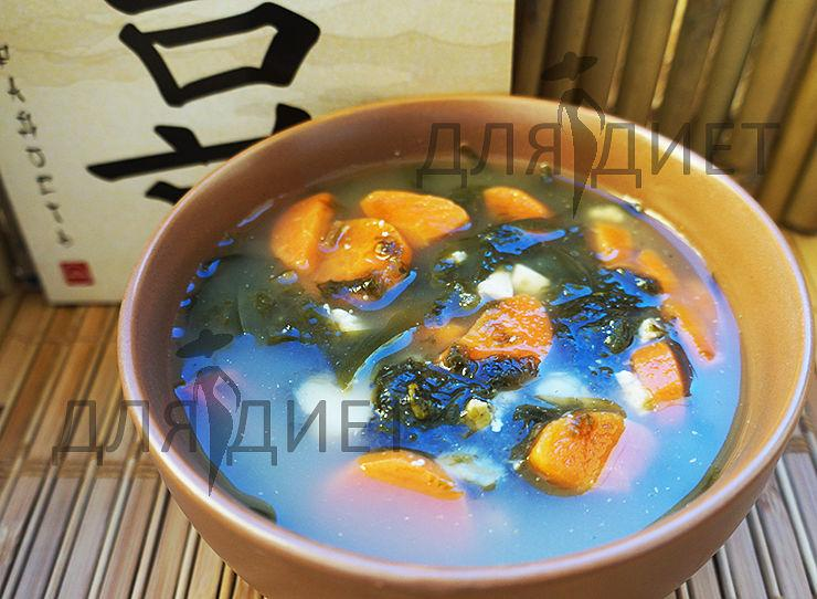 Рецепт супа с морской капустой, нори и тофу