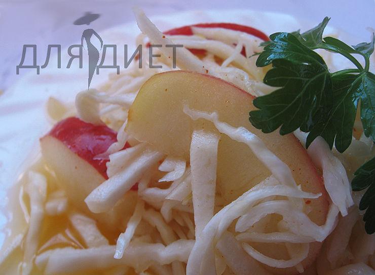 Как приготовить диетический салат из свежей капусты