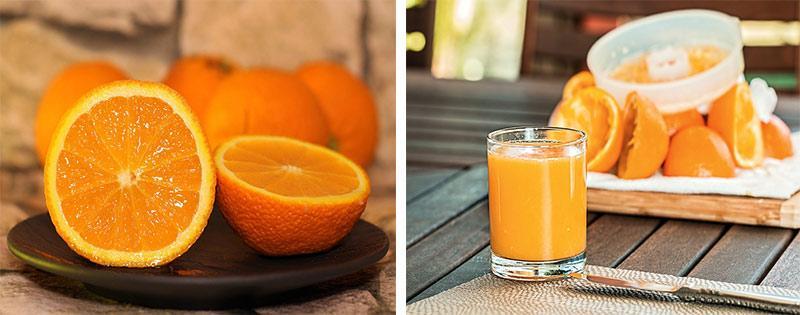 Сок апельсина приготовление